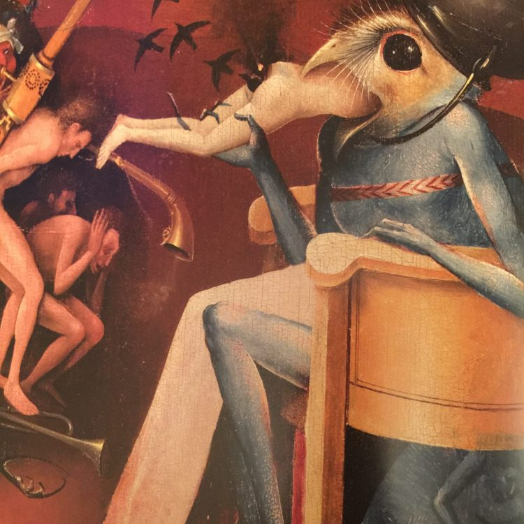 Detail of The Bird Devil in The Garden of Earthly Delights