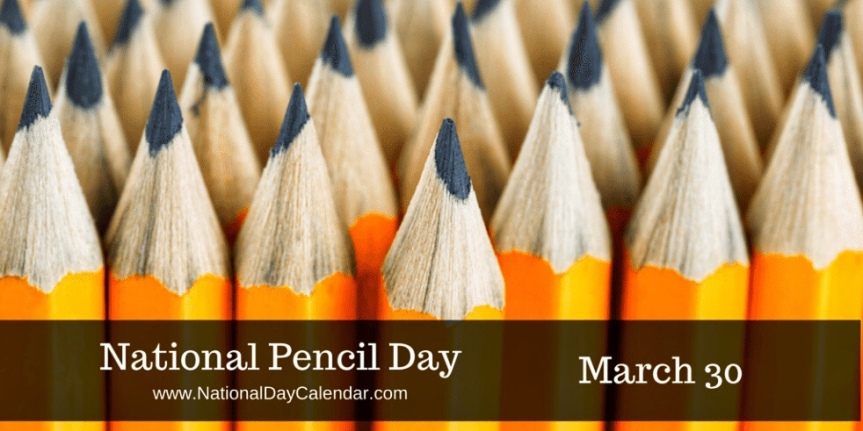 A Glass of Wine in memory of National PencilDay