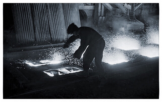 Foundryman at Cumbrian ironworks