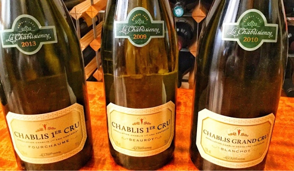 Chablis grades from La Chablisienne
