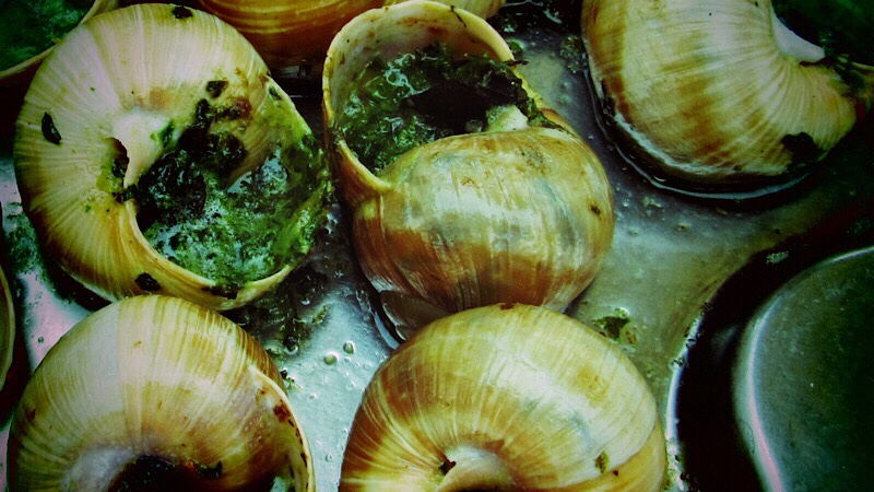 Escargots and Volnay a perfect match inBurgundy
