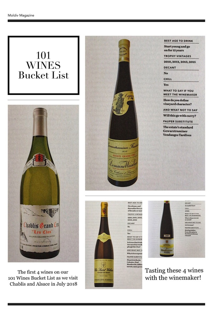101 Wines Bucket List, Chablis and Alsace