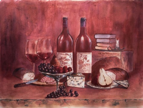 Painting masterpieces withwine!