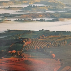 The rolling hills of Tuscany, Italy, at sunrise