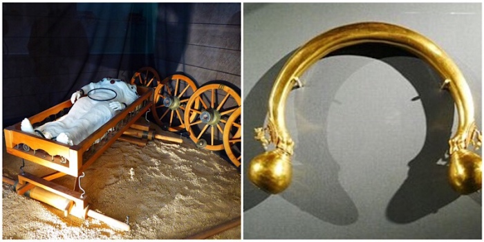Wagon tomb and gold torque of the Lady of Vix
