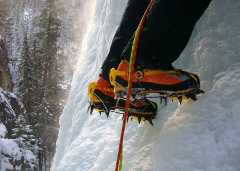 Rigid crampons for ice climbing