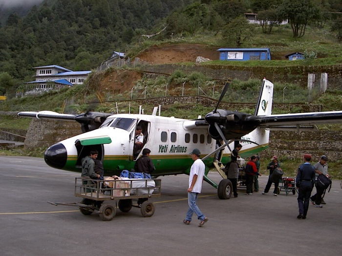 Twin Otter at Lukla
