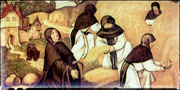 Cistercian monks of Citeaux Abbey