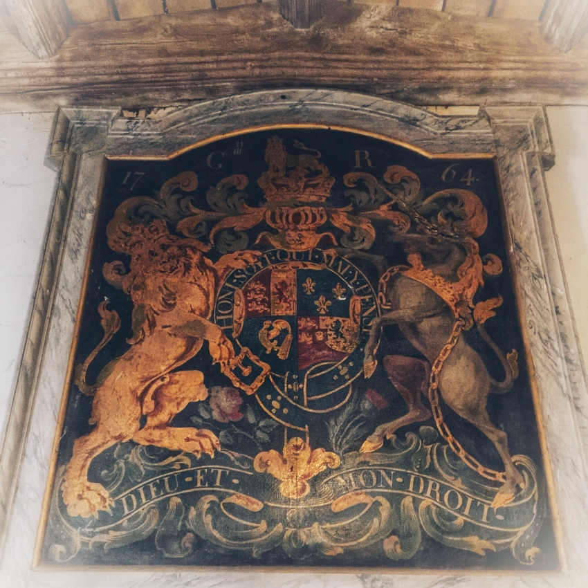 Shrivenham Church, porch with George III coat of arms