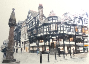 Chester Cross and the Tudor architecture
