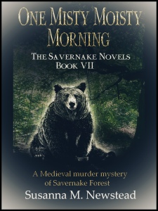 Book cover, Savernake Novels, One misty moisty morning