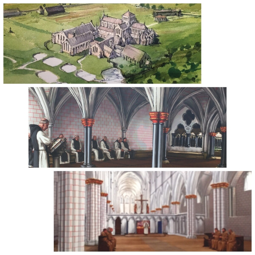 Depiction of original layout Hailes Abbey, Gloucestershire, Relic of the Holy Blood site