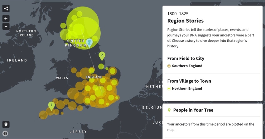 DNA test results ethnic profile and national migration