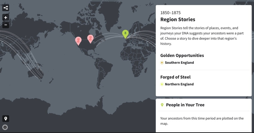 DNA test results ethnic profile and global migration