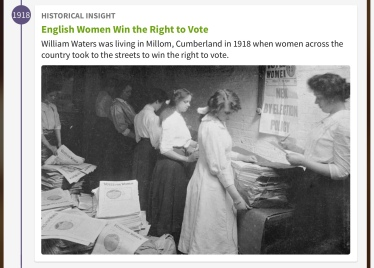 English women win the right to vote, 1918