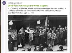 WW2 food rationing in the UK