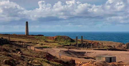 Faded ruins at Geevor tin mine
