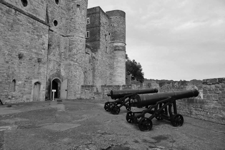 Cannons at Upnor Castle, Kent