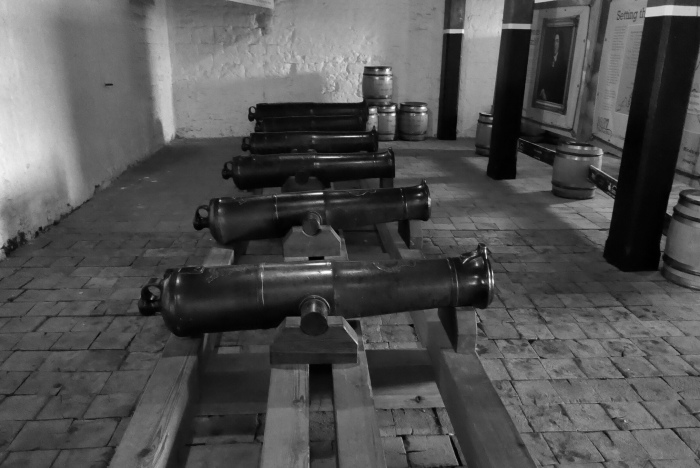 Cannons at Upnor Castle, River Medway, Kent